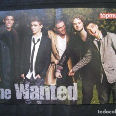 Cine: DOBLE POSTER TOPMUSIC - THE WANTED / ONE DIRECTION - 43,5 CM X 28,5 CM.. Lote 95838903
