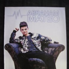 Cine: DOBLE POSTER TOPMUSIC - ABRAHAM MATEO / GEMELIERS - 29,5 CM X 23 CM.. Lote 95839183