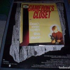 Cine: CARTEL DE CAMERON'S CLOSET ORIGINAL DE 1987. GARY BRANDNER, TAB HUNTER. CARTEL AMERICANO 100 X 70 . Lote 95841811
