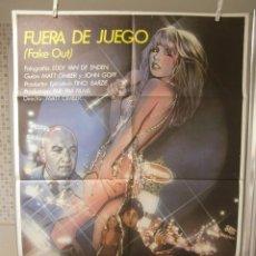 Cine: CARTEL CINE ORIG FUERA DE JUEGO (1982) 70X100 / TELLY SAVALAS / PIA ZADORA. Lote 95873107