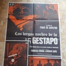 Cine: POSTER ORIGINAL LAS LARGAS NOCHES DE LA GESTAPO. Lote 96027803