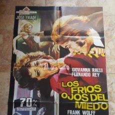 Cine: POSTER ORIGINAL LOS FRIOS OJOS DEL MIEDO. Lote 96028099