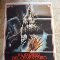 Cine: POSTER ORIGINAL EL ASESINO DEL CEMENTERIO ETRUSCO. Lote 96028439
