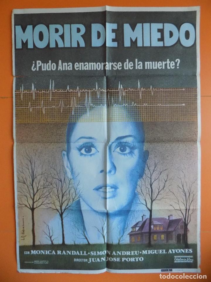 CARTEL, POSTER CINE - MORIR DE MIEDO - AÑO 1980 - (70 X 100 CM.)... R-6977 (Cine - Posters y Carteles - Acción)