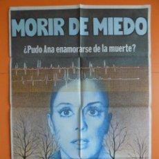 Cine: CARTEL, POSTER CINE - MORIR DE MIEDO - AÑO 1980 - (70 X 100 CM.)... R-6977. Lote 96056231