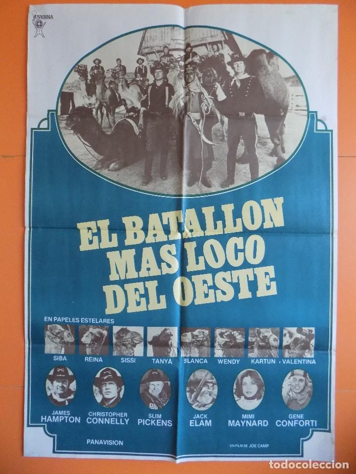 CARTEL, POSTER CINE - EL BATALLON MAS LOCO DEL OESTE - AÑO 1976... R-6979 (Cine - Posters y Carteles - Comedia)