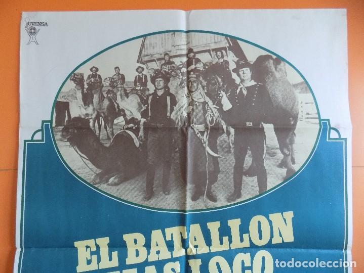 Cine: CARTEL, POSTER CINE - EL BATALLON MAS LOCO DEL OESTE - AÑO 1976... R-6979 - Foto 2 - 96061043