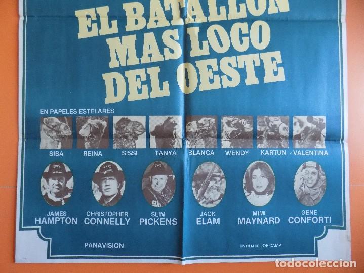 Cine: CARTEL, POSTER CINE - EL BATALLON MAS LOCO DEL OESTE - AÑO 1976... R-6979 - Foto 3 - 96061043