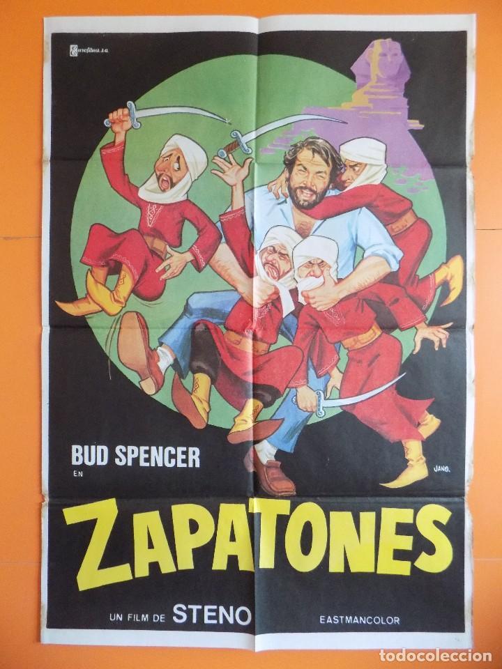 CARTEL, POSTER CINE - ZAPATONES - ( BUD SPENCER) - AÑO 1980... R-6980 (Cine - Posters y Carteles - Comedia)