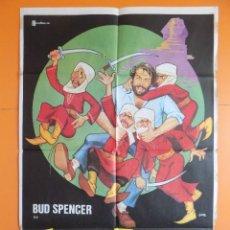Cine: CARTEL, POSTER CINE - ZAPATONES - ( BUD SPENCER) - AÑO 1980... R-6980. Lote 96062535