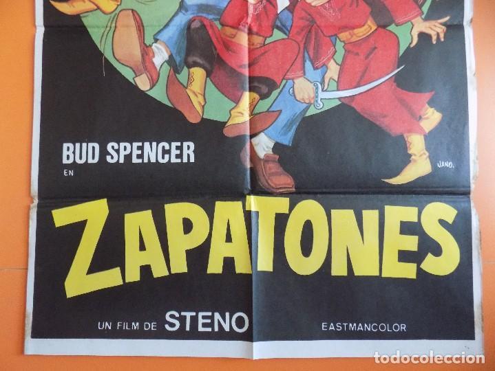 Cine: CARTEL, POSTER CINE - ZAPATONES - ( BUD SPENCER) - AÑO 1980... R-6980 - Foto 3 - 96062535