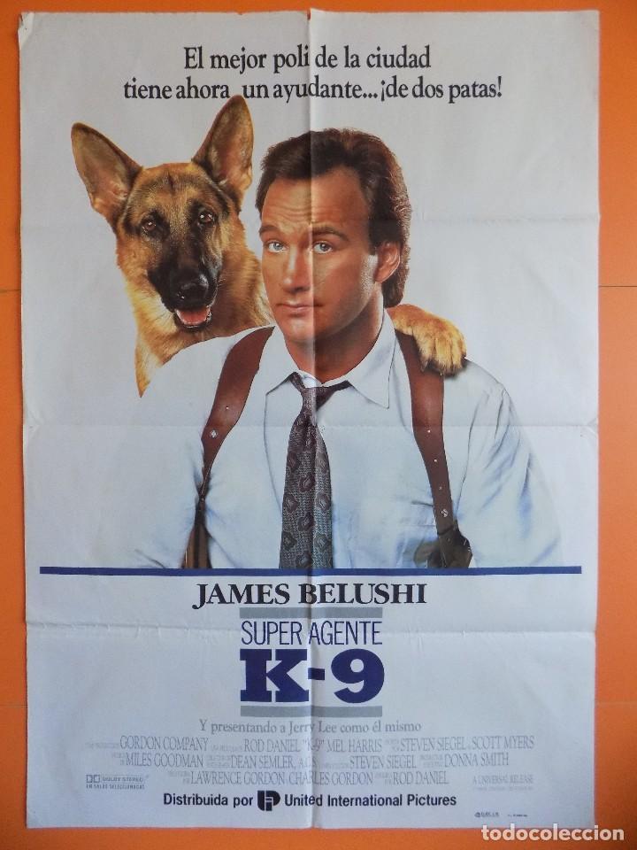 CARTEL, POSTER CINE - SUPER AGENTE K-9 - AÑO 1989.. R-6981 (Cine - Posters y Carteles - Comedia)