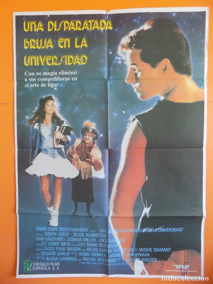 CARTEL, POSTER DE CINE - UNA DISPARATADA BRUJA EN LA UNIVERSIDAD - AÑO 1989... R-6985 (Cine - Posters y Carteles - Comedia)