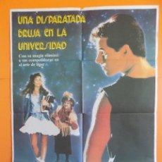 Cine: CARTEL, POSTER DE CINE - UNA DISPARATADA BRUJA EN LA UNIVERSIDAD - AÑO 1989... R-6985. Lote 96140275