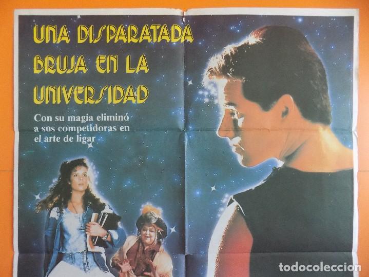 Cine: CARTEL, POSTER DE CINE - UNA DISPARATADA BRUJA EN LA UNIVERSIDAD - AÑO 1989... R-6985 - Foto 2 - 96140275