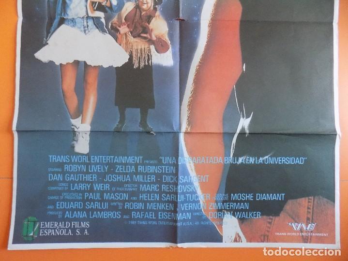 Cine: CARTEL, POSTER DE CINE - UNA DISPARATADA BRUJA EN LA UNIVERSIDAD - AÑO 1989... R-6985 - Foto 3 - 96140275
