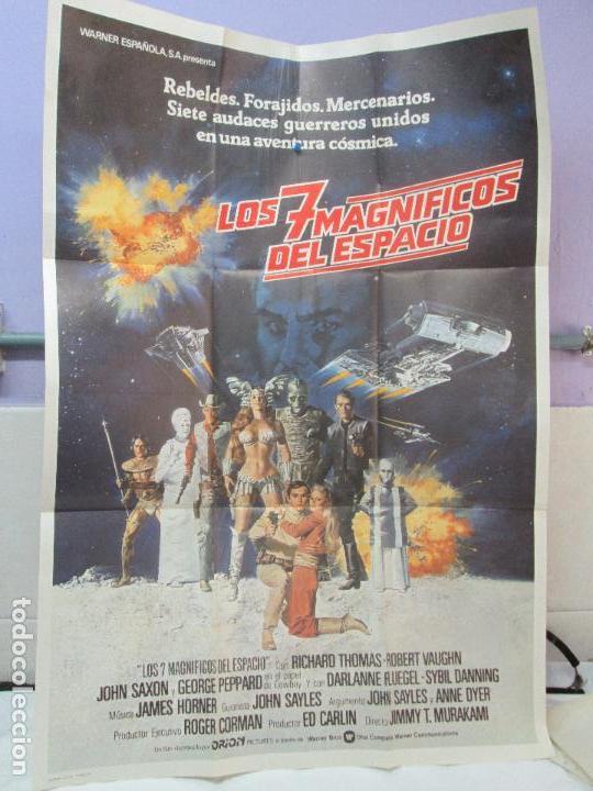 CARTEL DE CINE. LOS SIETE MAGNIFICOS DEL ESPACIO. WARNER BROS. 69 X 100 CM. VER FOTOGRAFIAS ADJUNTAS (Cine - Posters y Carteles - Ciencia Ficción)