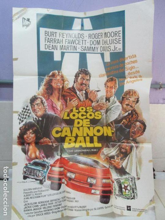 CARTEL DE CINE. LOS LOCOS DE CANNONBALL. LAUREN FILMS. 69 X 100 CM. VER FOTOGRAFIAS ADJUNTAS (Cine - Posters y Carteles - Comedia)