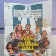 Cine: CARTEL DE CINE. LOS LOCOS DE CANNONBALL. LAUREN FILMS. 69 X 100 CM. VER FOTOGRAFIAS ADJUNTAS. Lote 96428619
