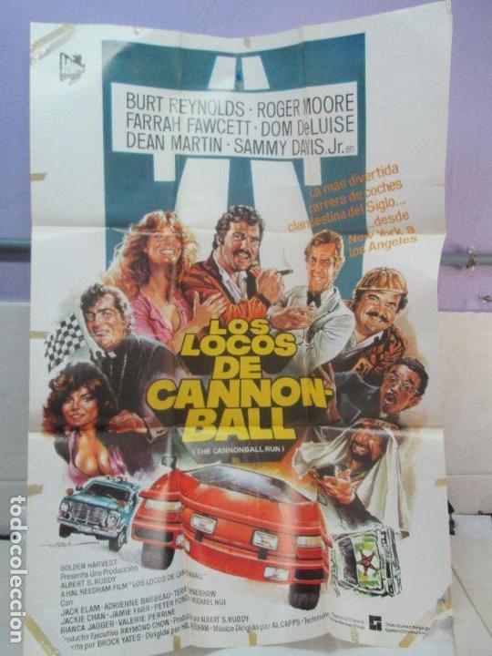 Cine: CARTEL DE CINE. LOS LOCOS DE CANNONBALL. LAUREN FILMS. 69 X 100 CM. VER FOTOGRAFIAS ADJUNTAS - Foto 2 - 96428619