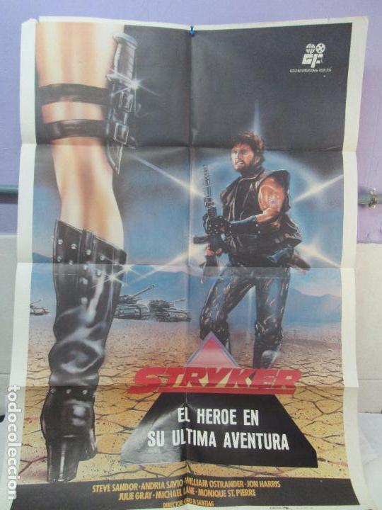 CARTEL DE CINE. STRYKER EL HEROE EN SU ULTIMA AVENTURA. GOLD INTERNACIONAL FILM 1984. 69 X 100 CM. (Cine - Posters y Carteles - Ciencia Ficción)