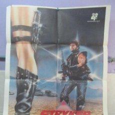 Cine: CARTEL DE CINE. STRYKER EL HEROE EN SU ULTIMA AVENTURA. GOLD INTERNACIONAL FILM 1984. 69 X 100 CM.. Lote 96434071