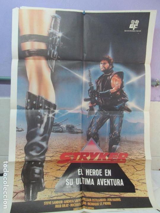 Cine: CARTEL DE CINE. STRYKER EL HEROE EN SU ULTIMA AVENTURA. GOLD INTERNACIONAL FILM 1984. 69 X 100 CM. - Foto 2 - 96434071