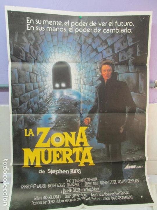 CARTEL DE CINE. LA ZONA MUERTA. ADOS FILMS. 69 X 100 CM. VER FOTOGRAFIAS ADJUNTAS (Cine - Posters y Carteles - Terror)