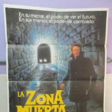 Cine: CARTEL DE CINE. LA ZONA MUERTA. ADOS FILMS. 69 X 100 CM. VER FOTOGRAFIAS ADJUNTAS. Lote 96437079