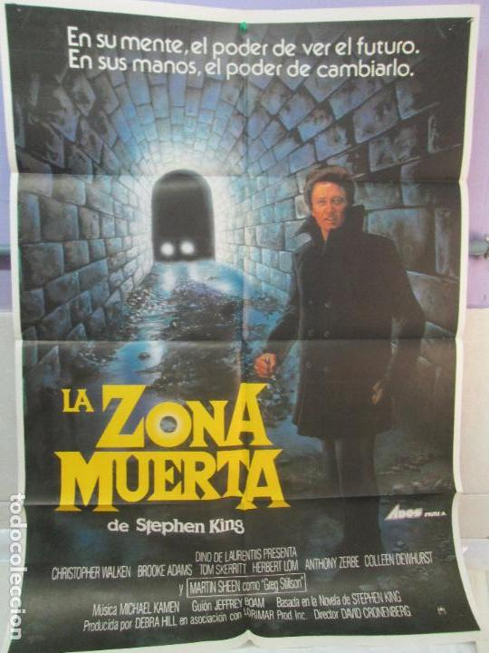 Cine: CARTEL DE CINE. LA ZONA MUERTA. ADOS FILMS. 69 X 100 CM. VER FOTOGRAFIAS ADJUNTAS - Foto 4 - 96437079