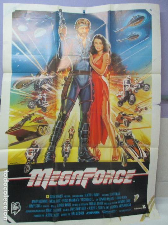CARTEL DE CINE. MEGAFORCE. LAUREN FILMS. 69 X 100 CM. VER FOTOGRAFIAS ADJUNTAS (Cine - Posters y Carteles - Ciencia Ficción)