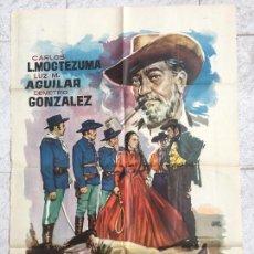 Cine: CARTEL DE CINE DEL ESTRENO DE LA PELÍCULA EL ÚLTIMO MEJICANO (1960). Lote 96529875