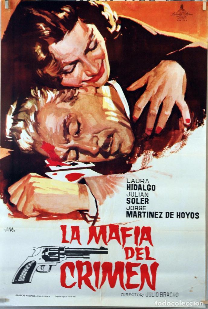 LA MAFIA DEL CRIMEN. LAURA HIDALGO-JULIÁN SOLER. CARTEL ORIGINAL 1967. 70X100 (Cine- Posters y Carteles - Drama)