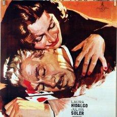 Cine: LA MAFIA DEL CRIMEN. LAURA HIDALGO-JULIÁN SOLER. CARTEL ORIGINAL 1967. 70X100. Lote 96539571
