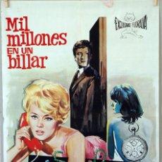 Cine: MIL MILLONES EN UN BILLAR. JEAN SEBERG-CLAUDE RICH-ELSA MARTINELLI. CARTEL ORIGINAL 1966. 70X100. Lote 96539999
