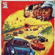 Cine: SAFARI 5000. EMMANUELLE RIVA-JEAN CLAUDE DROUOT. CARTEL ORIGINAL 1972. 70X100. Lote 96540395