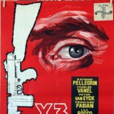 Cine: X3 OPERACIÓN DINAMITA. LINO VENTURA-RAYMOND PELLEGRIN. CARTEL ORIGINAL 1961. 70X100. Lote 96541335
