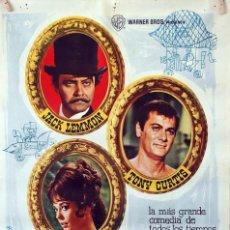 Cine: LA CARRERA DEL SIGLO. JACK LEMMON-TONY CURTIS-NATALIE WOOD. CARTEL ORIGINAL 1966. 70X100. Lote 96541671