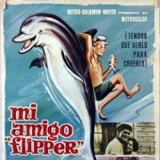 Cine: MI AMIGO FLIPPER. CHUCK CONNORS. CARTEL ORIGINAL 1966. 70X100. Lote 96542343