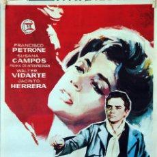 Cine: EL HOMBRE DE LA ESQUINA ROSADA. SUSANA CAMPOS-FRANCISCO PETRONE. CARTEL ORIGINAL 1963. 70X100. Lote 96542831