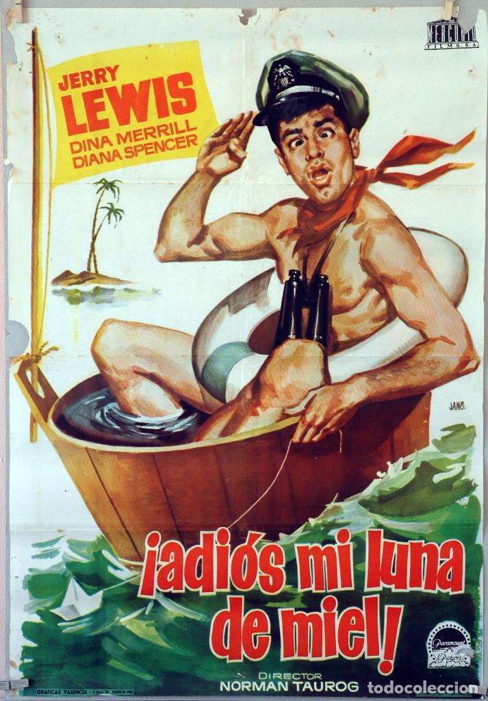 ADIÓS MI LUNA DE MIEL. JERRY LEWIS-NORMAN TAUROG. CARTEL ORIGINAL 1962. 70X100 (Cine - Posters y Carteles - Comedia)