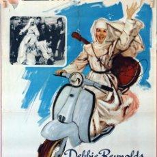 Cine: DOMINIQUE. DEBBIE REYNOLDS-HENRY KOSTER. CARTEL ORIGINAL 1966. 70X100. Lote 96575979
