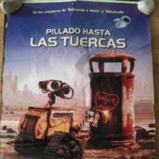 Cine: WALL-E, PILLADO HASTA LAS TUERCAS - APROX 70X100 CARTEL ORIGINAL CINE (L47). Lote 96612703