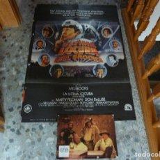 Cine: POSTER DE LA ULTIMA LOCURA DE MEL BROOKS + 8 POSTALES DE BUFFALO BILL. Lote 96618403