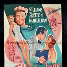 Cine: CARTEL LA FILLE DE NEPTUNE, 1951 AFFICHES GAILLARD. PARIS. ORQUESTA DE XAVIER CUGAT. Lote 96665543