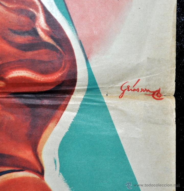Cine: CARTEL LA FILLE DE NEPTUNE, 1951 AFFICHES GAILLARD. PARIS. ORQUESTA DE XAVIER CUGAT - Foto 4 - 96665543