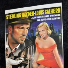 Cine: CARTEL QUAND LA VILLE DORT... Y POR DETRAS - ELVIS PRESLEY - LOVE ME TENDER. AÑO 1950. Lote 96667559