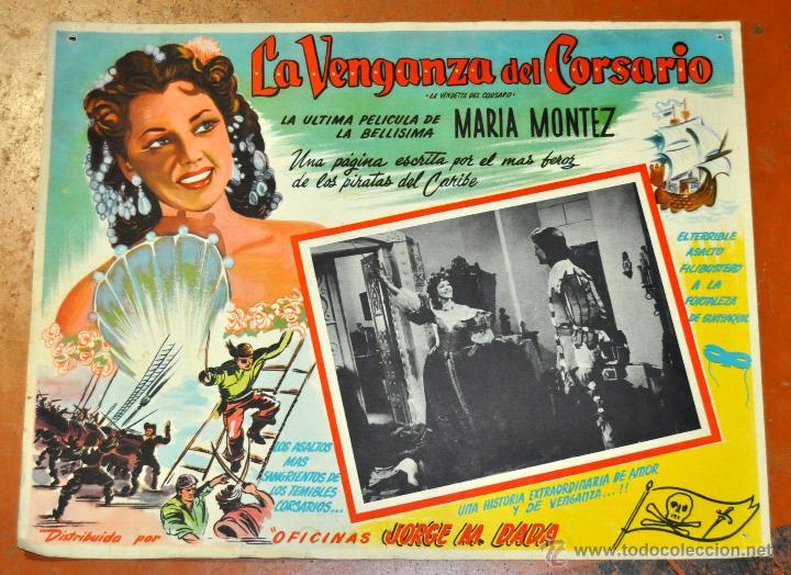 CARTEL LA VENGANZA DEL CORSARIO, 1951 (Cine - Posters y Carteles - Aventura)