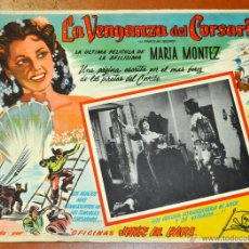 Cine: CARTEL LA VENGANZA DEL CORSARIO, 1951. Lote 96669107