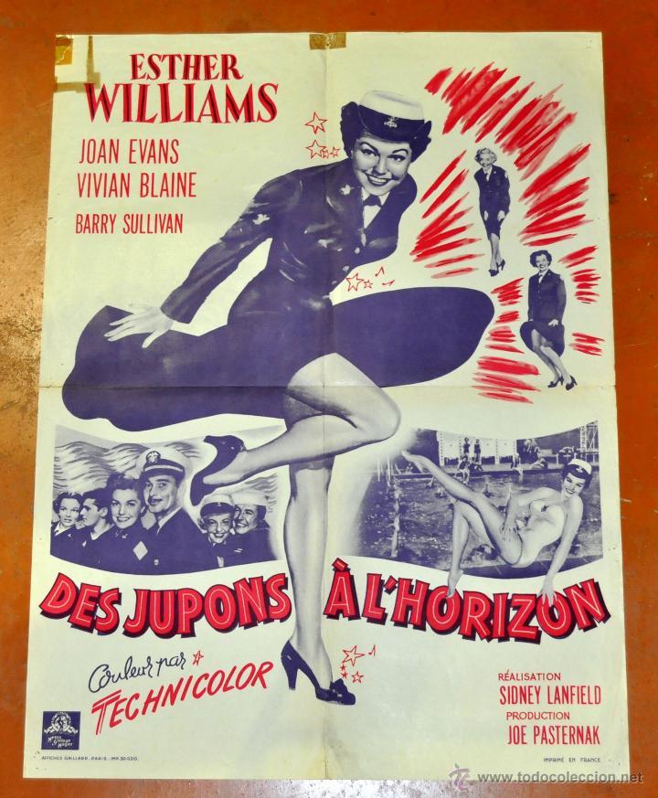 DES JUPONS A L'HORIZON 1952 AFFICHES GAILLARD. PARIS. FALDAS A BORDO (Cine - Posters y Carteles - Musicales)